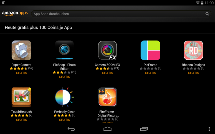 Amazon App-Shop gratis Apps