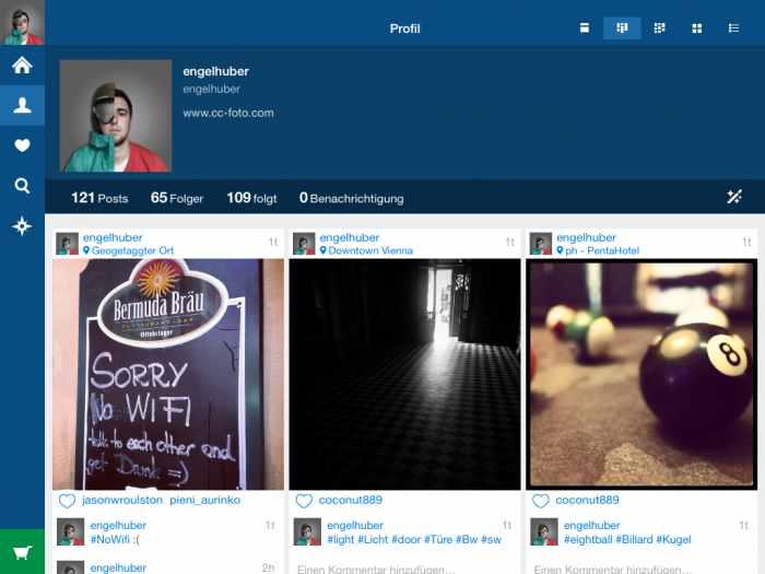 Retro Instagram iPad Viewer