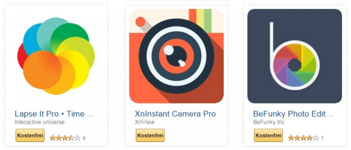 Amazon App-Shop: Gratis Foto Apps