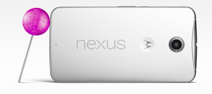 Google Nexus 6 Android Lollipop