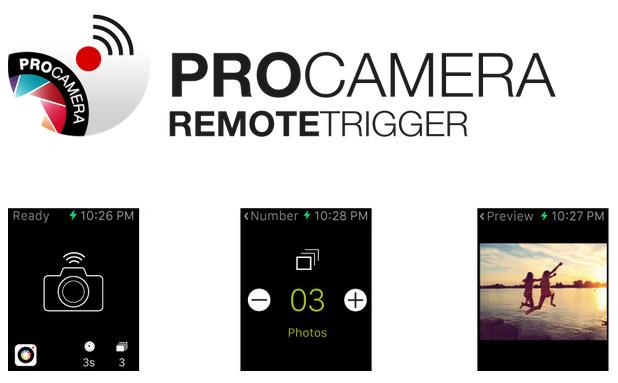 Fernauslöser für die Apple Watch - Bild: ProCamera 8