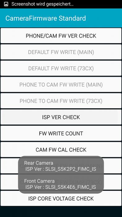 Galaxy S6 SLSI S5K2P2 FIMC IS Sensor