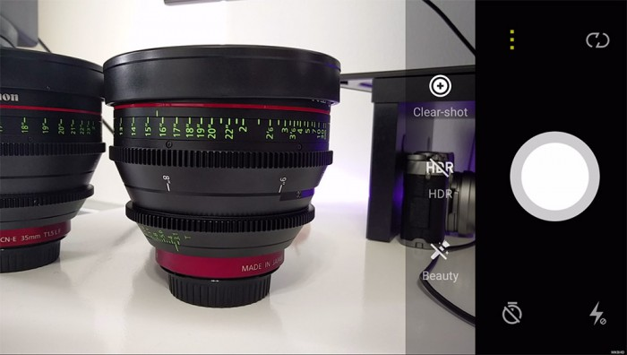 Kamera App des OnlePlus Two - Bild: MKBHD