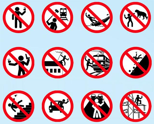 Safe Selfies Infografik - Bild: mvd.ru