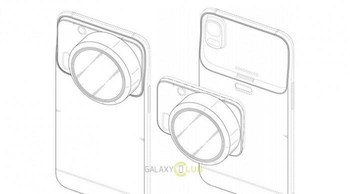 Samsung Patent mit auswechselbarer Kamera - Bild: galaxyclub.nl