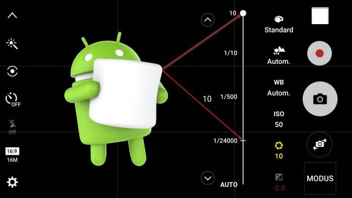Galaxy S6 Android 6.0.1 Marshmallow Kamera App